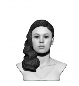 Buste femme noir & blanc en t-shirt