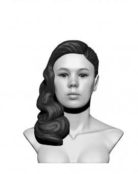 Buste femme noir & blanc nu