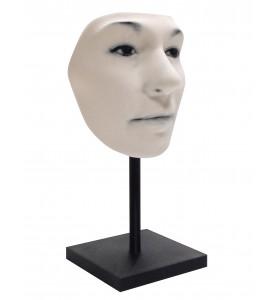 Masque en noir & blanc avec support