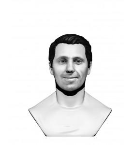 Buste homme noir & blanc en t-shirt