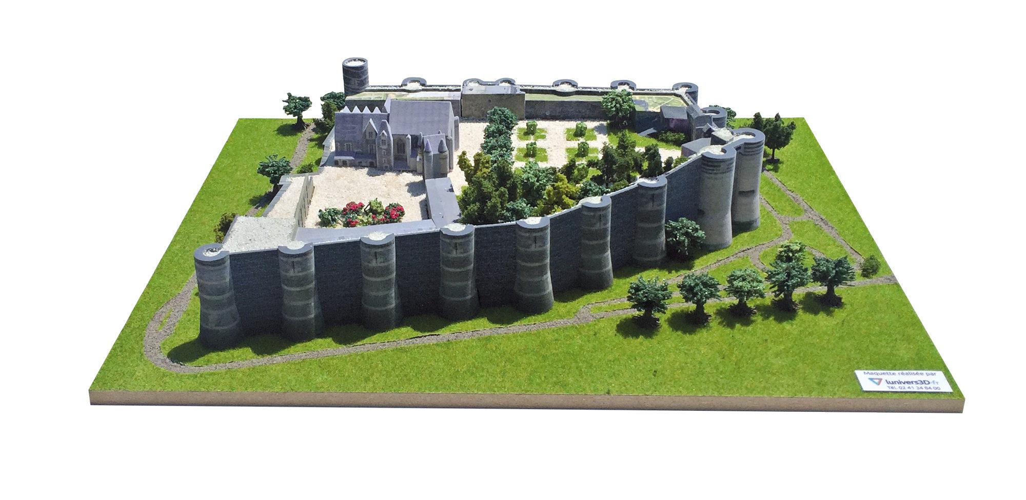 Maquette 3D Château d'Angers