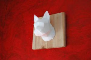 Cadre 3D bouledogue français